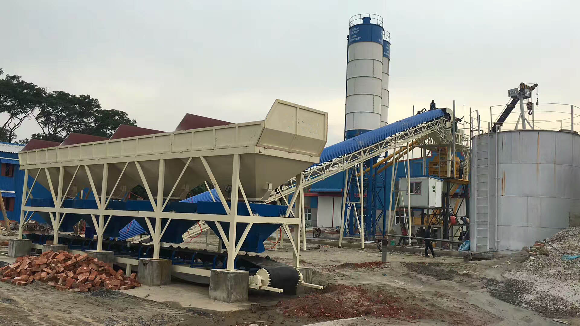 90m3/h Batching Plant in Philippines