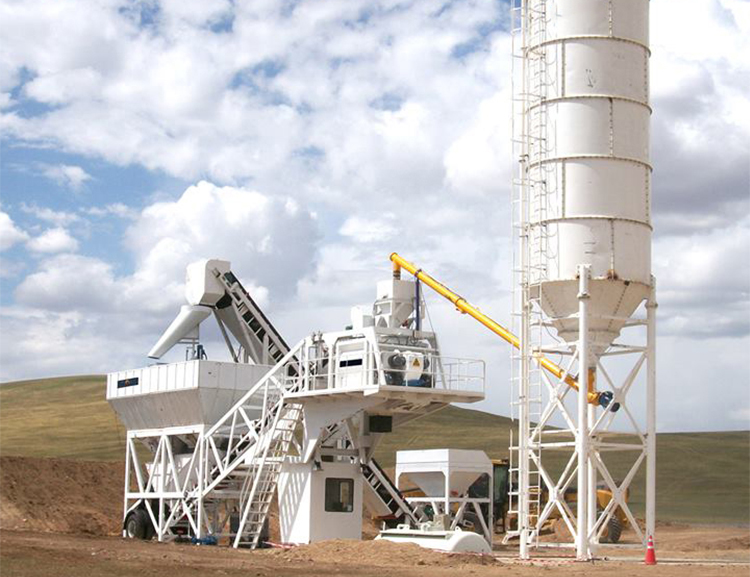 YHZS25 mobile batching plant