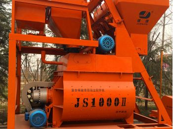 Twin Shaft Concrete Mixer (JS500-JS1500)